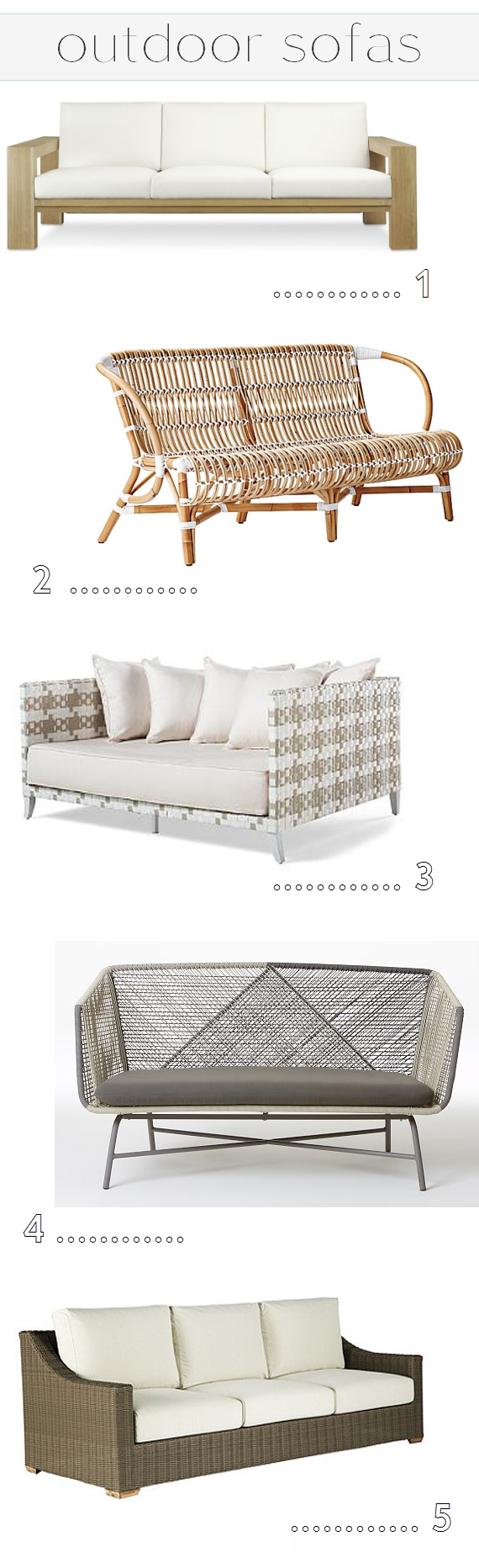 outdoor sofas - simplified bee