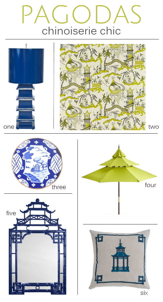Chinoiserie Chic :: Pagoda Decor :: Simplified Bee