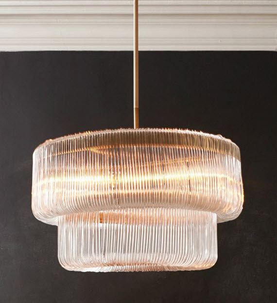 acrylic waterfall chandelier // West Elm Fall 2014
