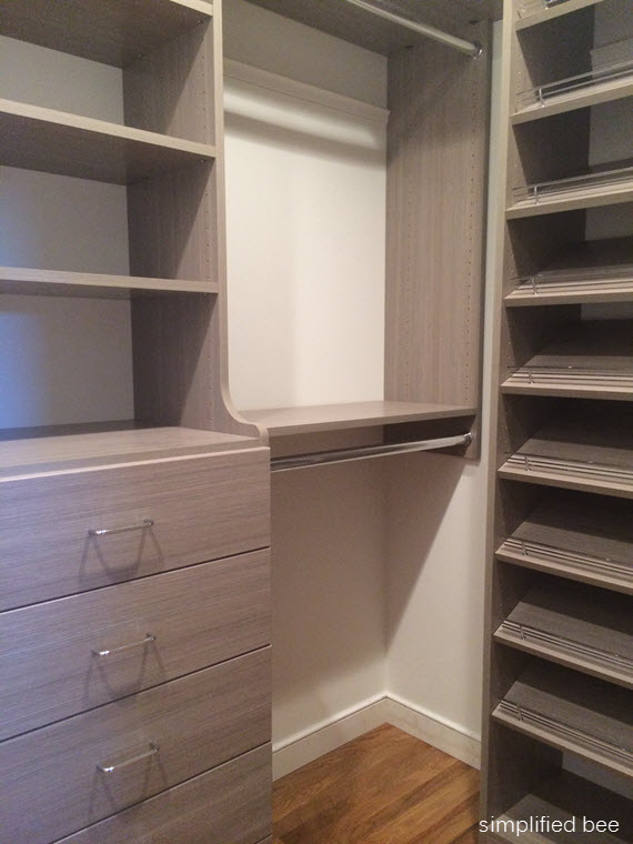 driftwood gray walk-in closet // simplified bee