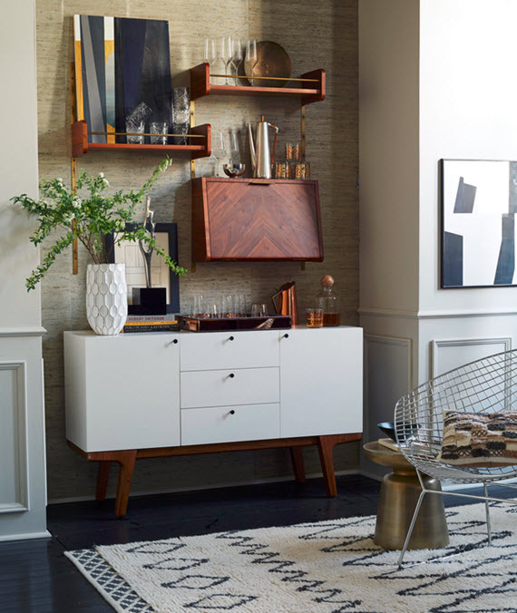 White Mid Century Modern Inspired Buffet // West Elm