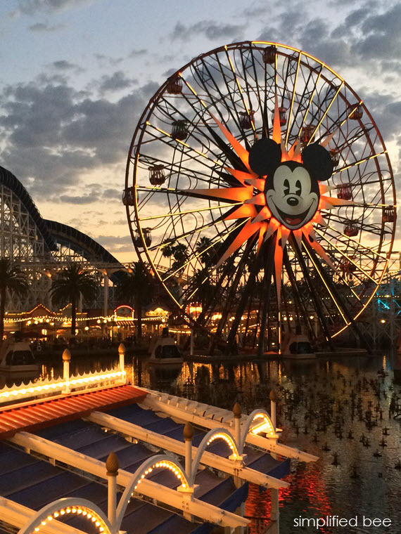 California Adventure Park at Sunset #disneyland #mickeymouse