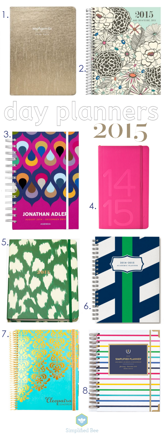 stylish day planners and agendas for 2015 // simplified bee #organizing #2015