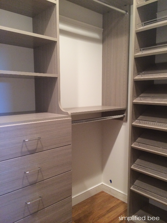 Perfect Small Walk In Closet Design // Simplified Bee