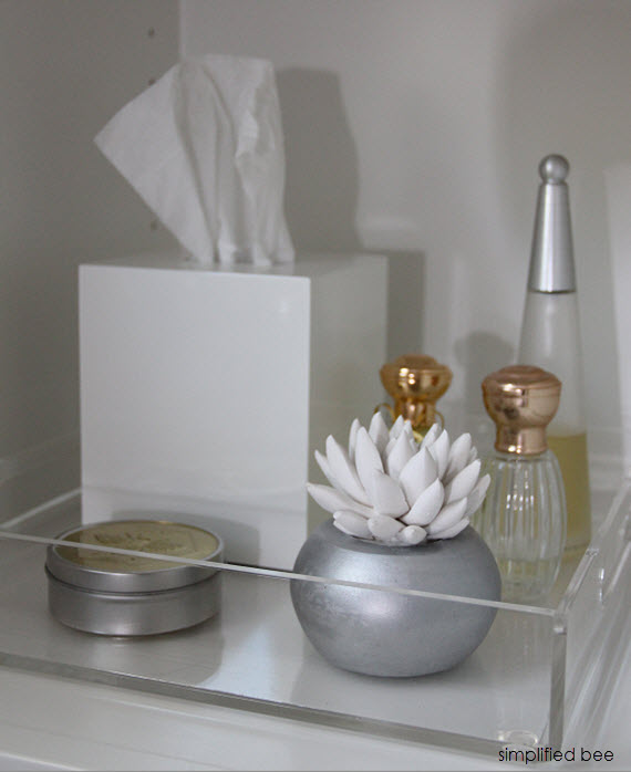 designer marble bathroom acrylic tray cristin priest of simplified bee bathrooms - Bathroom Tray