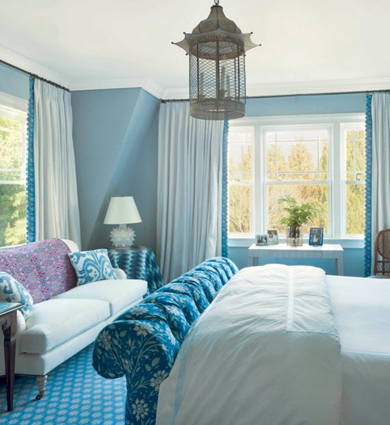 blue bedroom // designed by markham roberts #design