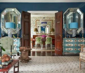 blue formal living room // designed by markham roberts #blue