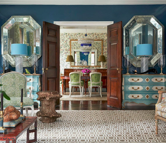 blue formal living room // designed by markham roberts #blue