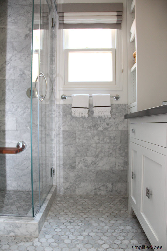 designer marble bathroom // cristin priest of simplified bee #bathrooms
