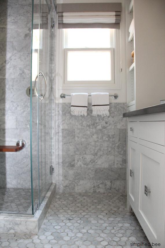 designer marble bathroom // cristin priest of simplified bee #bathrooms