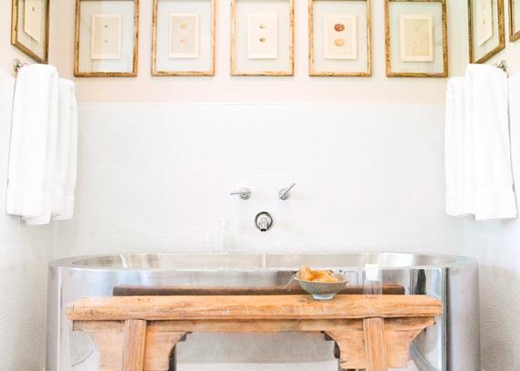 modern stainless steel tub #bathrooms