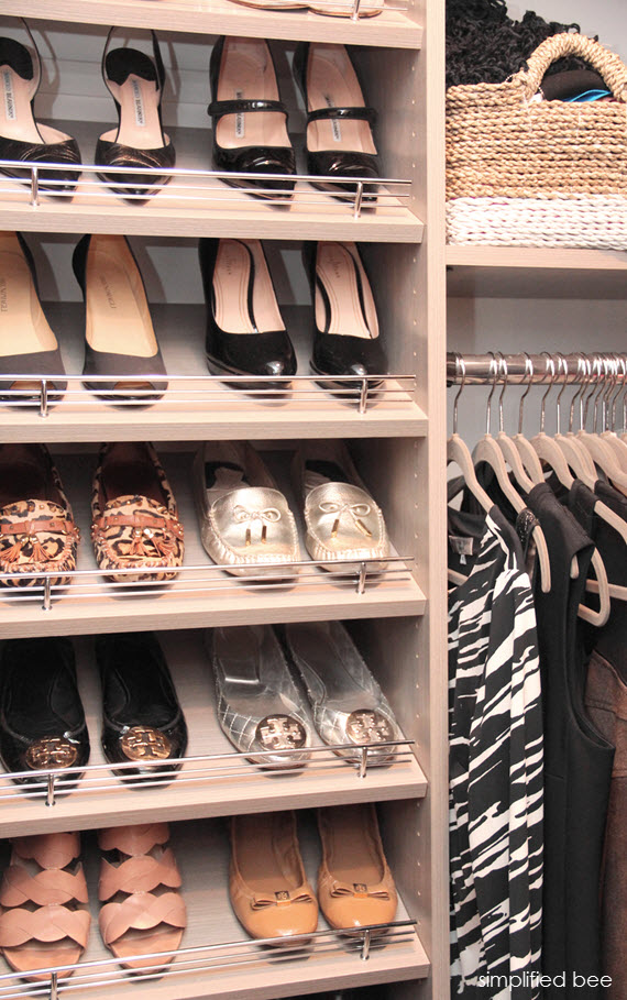 shoe rack // walk-in closet // simplifiedbee.com