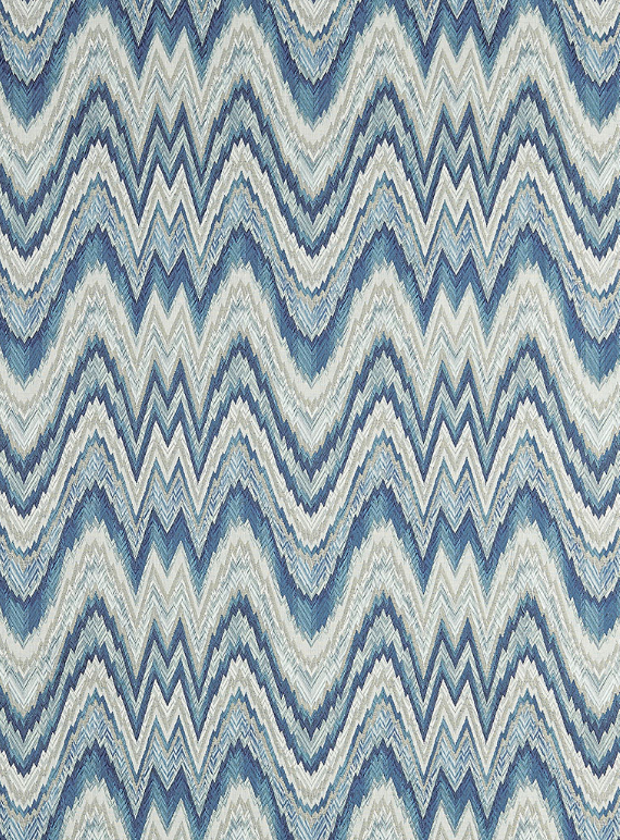 Flame Stitch // Schumacher Fabrics #blue