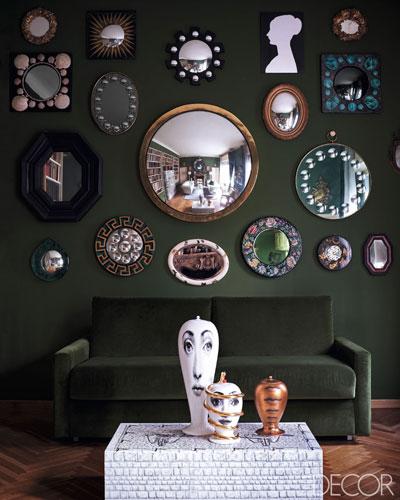 barnaba-fornasetti-elle decor green velvet