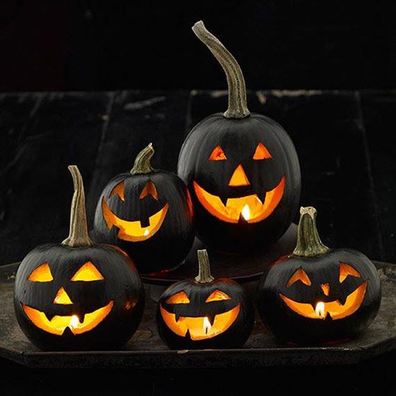 black jack-o-lanterns for halloween // simplified bee