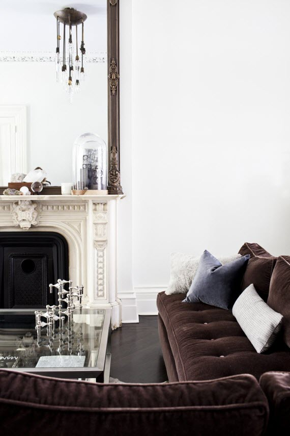 design crush // velvet sofas // michelle james apartment #interiors