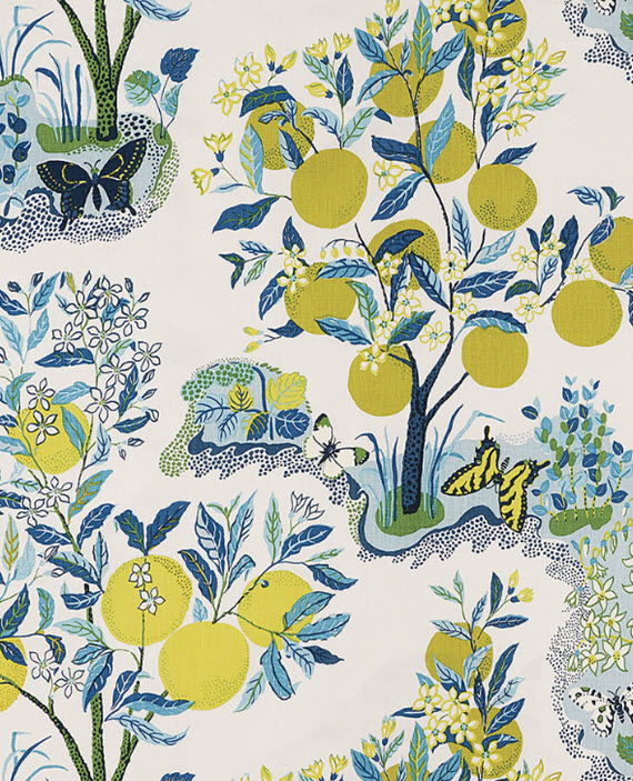 citrus garden // schumacher fabric #citrus #fabric