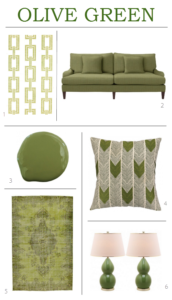 decorating with olive green