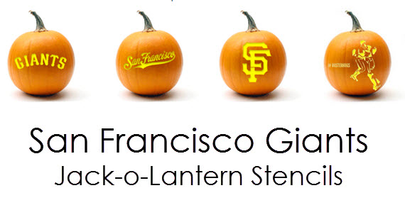 SF Giants jack-o-lantern template // simplified bee #sfgiants #pumpkins
