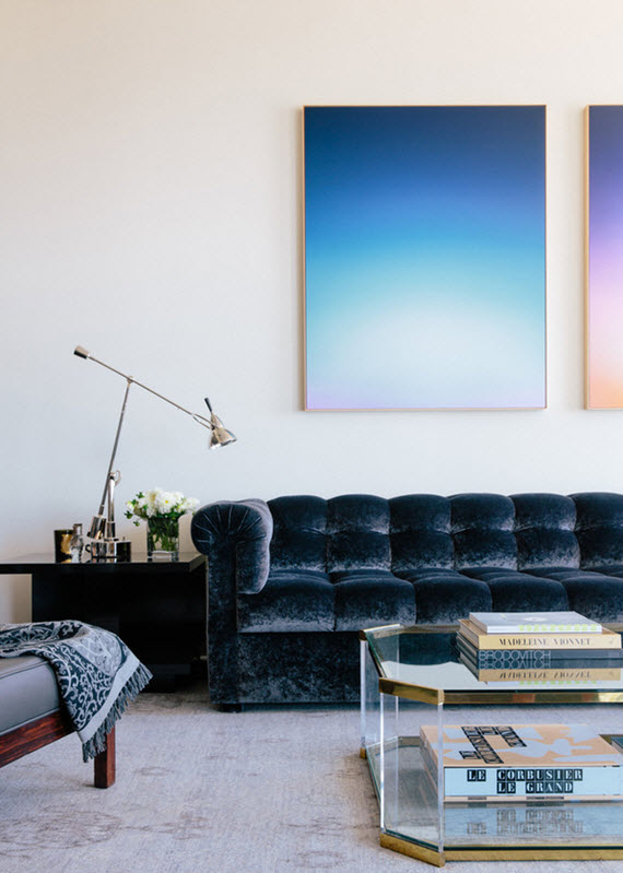design crush // velvet sofas #interiors #blue