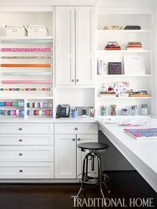beautiful + organized craft room design // Bradshaw Orrell