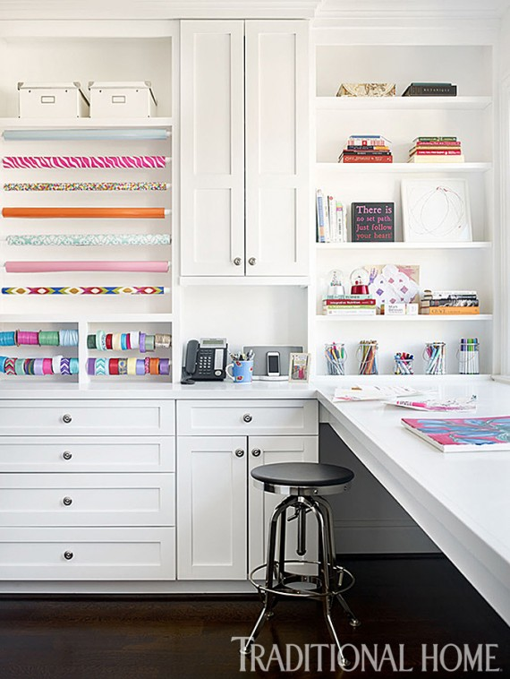 beautiful + organized craft room design // Bradshaw Orrell