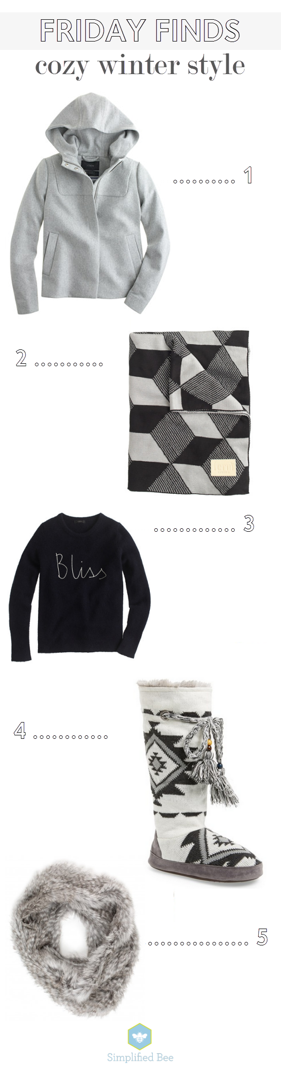 Friday Finds // Cozy Winter Style // Simplified Bee