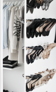 DIY ikea shoe rack // walk-in-closet