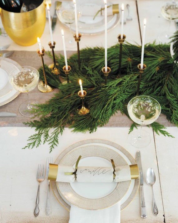 elegant gold & white thanksgiving table // camille styles
