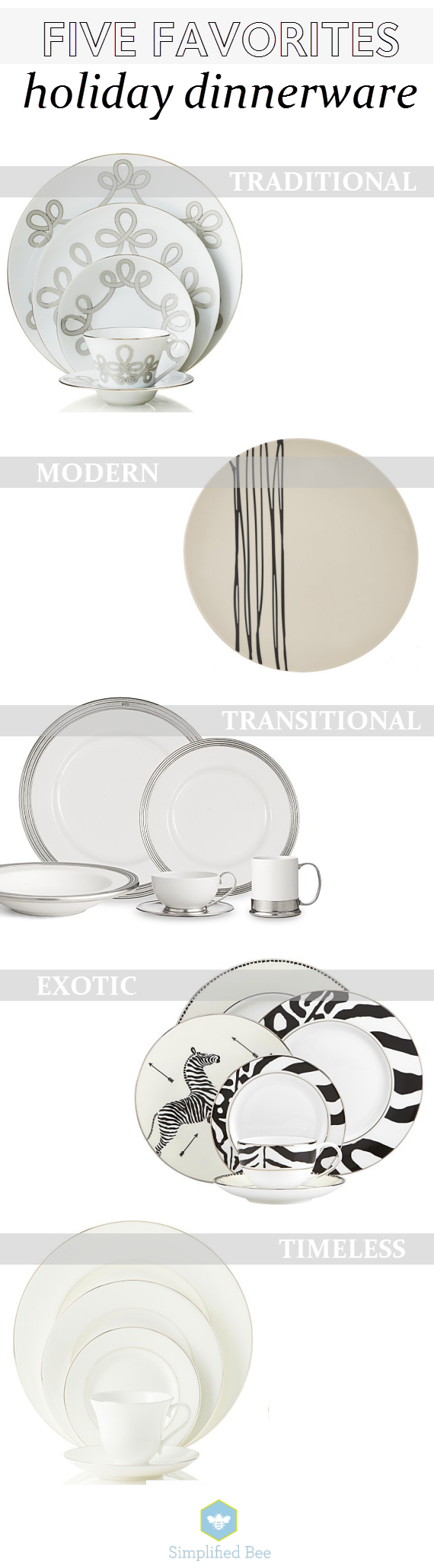 favorite holiday dinnerware // simplified bee #tablescape #holiday2014 #thanksgiving