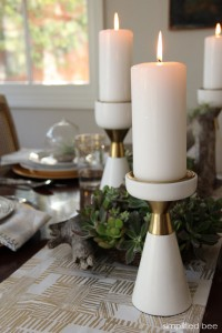 gold and white holiday table setting with Target // simplified bee blog #TargetStyle