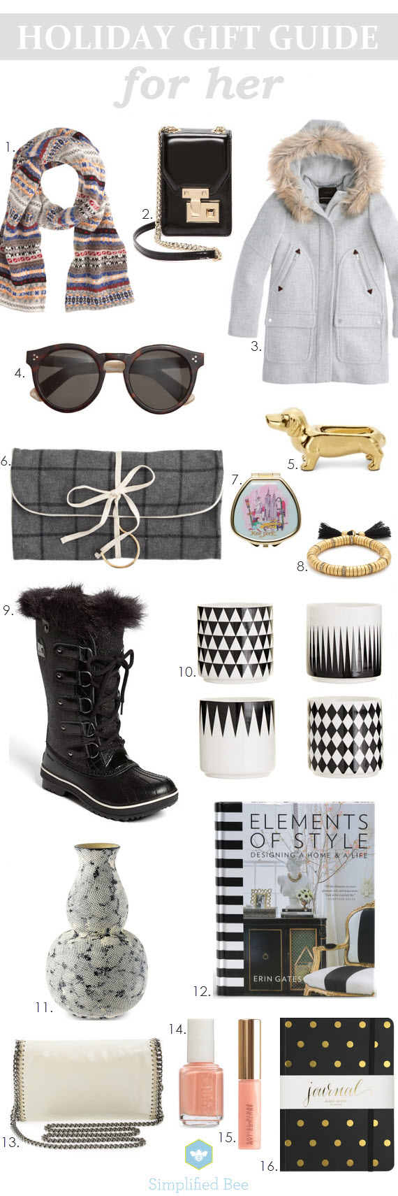 Holiday Gift Guide 2014 - For Her // Simplified Bee #holidaygifts #giftguide #holiday2014