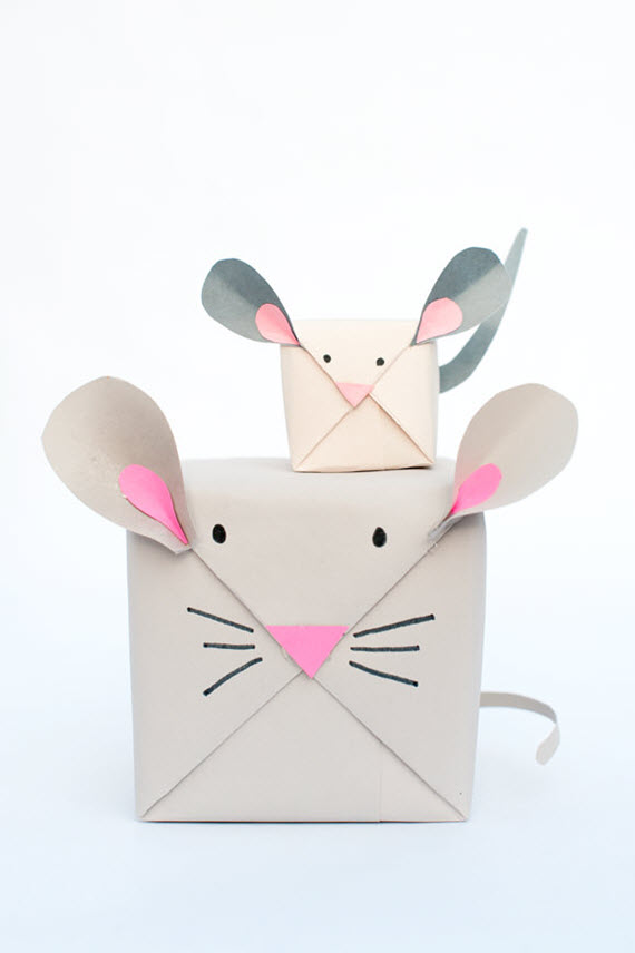 mouse box // Christmas gift wrapping idea
