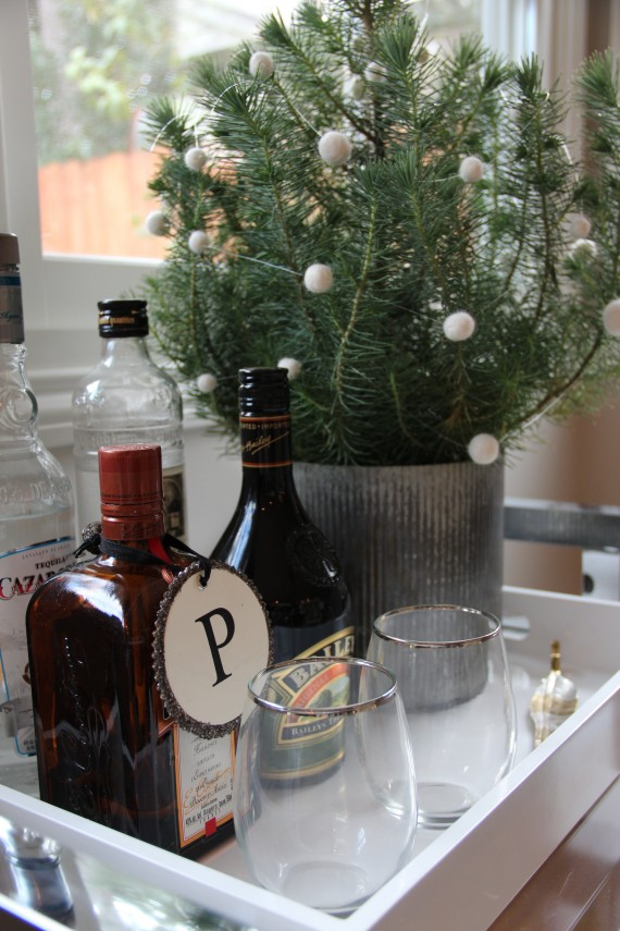 holiday bar vignette with tree // simplified bee #TargetStyle