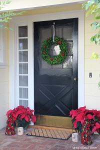 holiday front door decor // simplified bee #TargetStyle