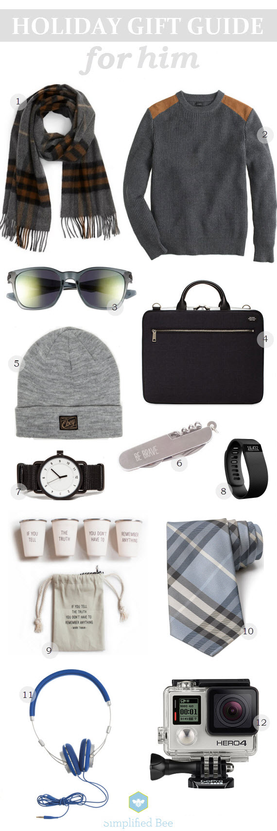 holiday gift guide 2014 // for him // simplified bee #holiday #gifts
