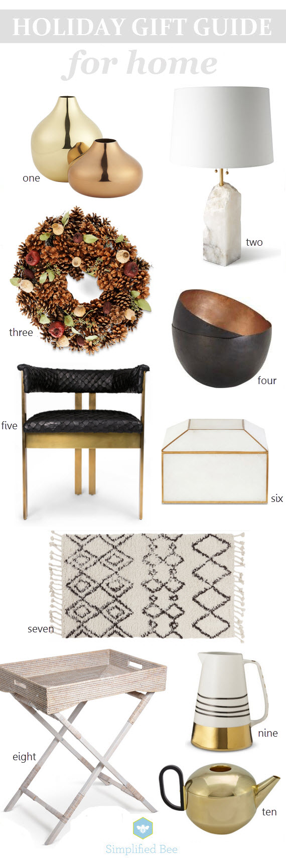 holiday gift guide 2014 // for the home // simplified bee #holiday2014 #giftguide