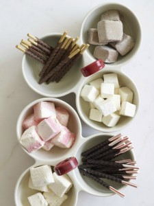 hot chocolate toppings // holiday party ideas