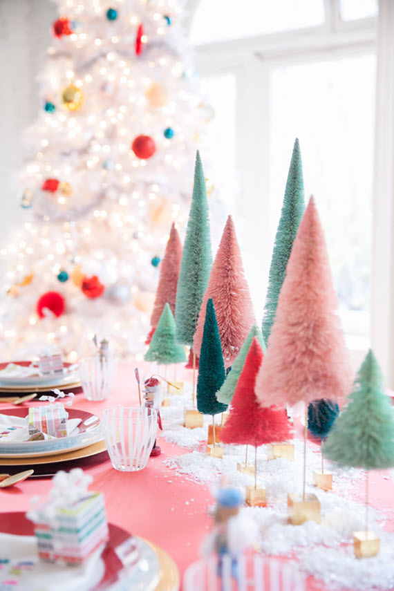 pink holiday tabletop decor // coco + kelley #holiday #pink