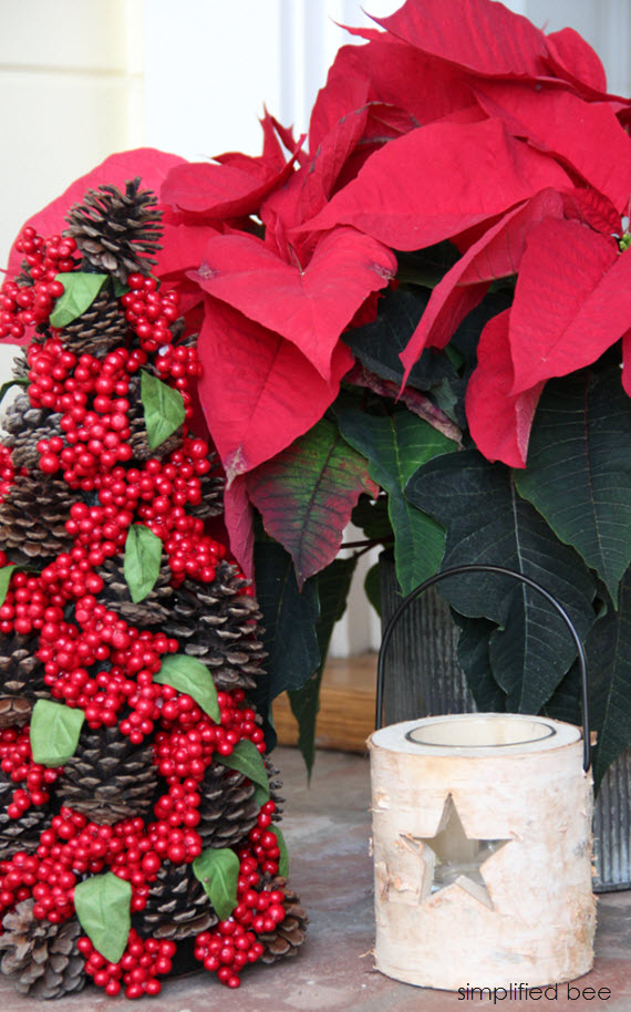 red poinsettia & holiday decor // simplified bee