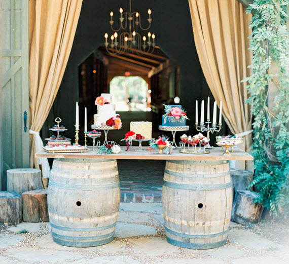 barn wedding dessert table // bloom workshop