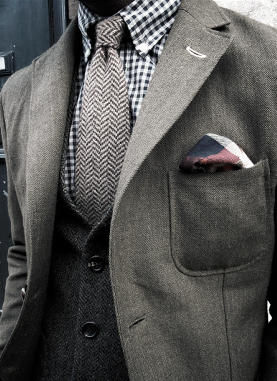 elegant menswear // layered pattern
