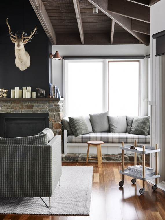 cozy gray living room // the design files
