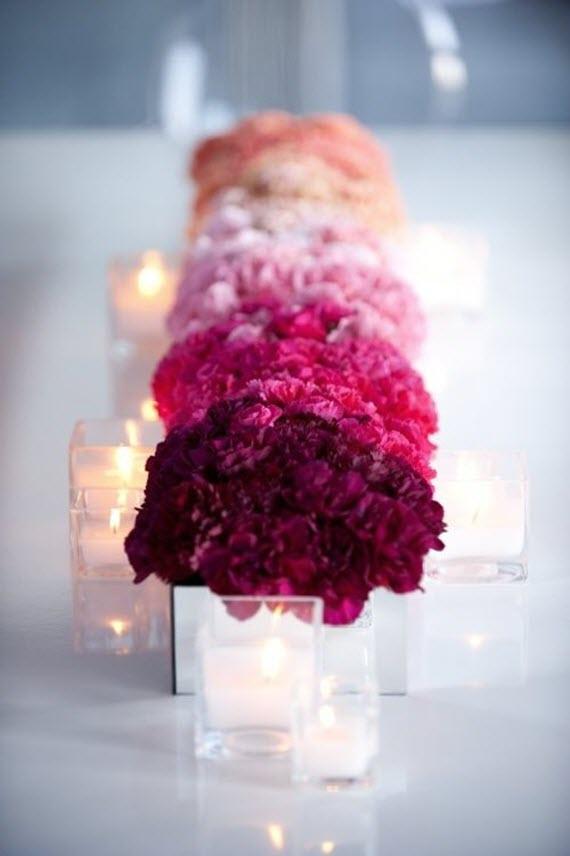 pink ombre floral centerpiece // tablescape