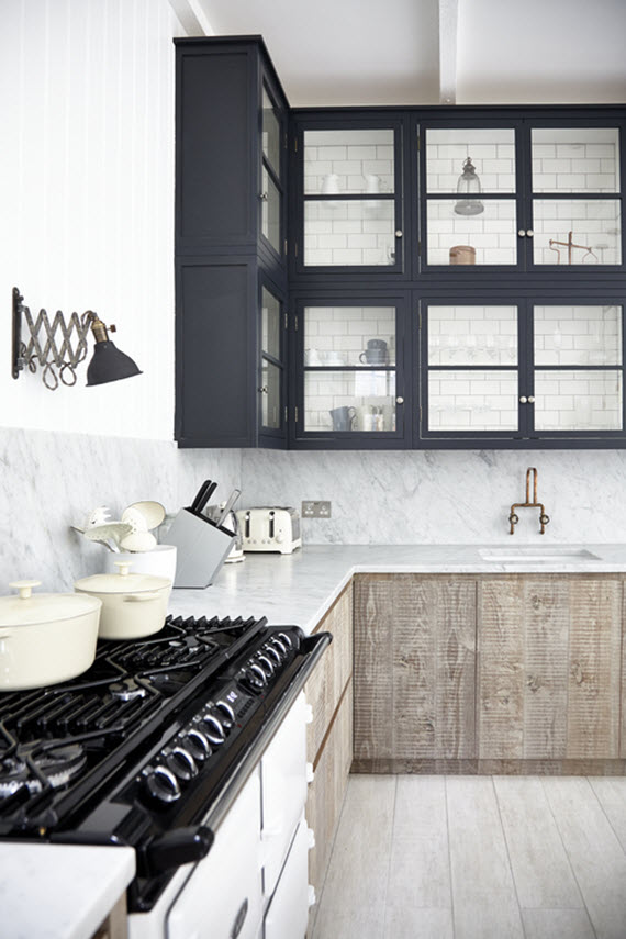 rustic + modern kitchen // Blakes London