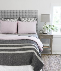 traditional gray bedroom
