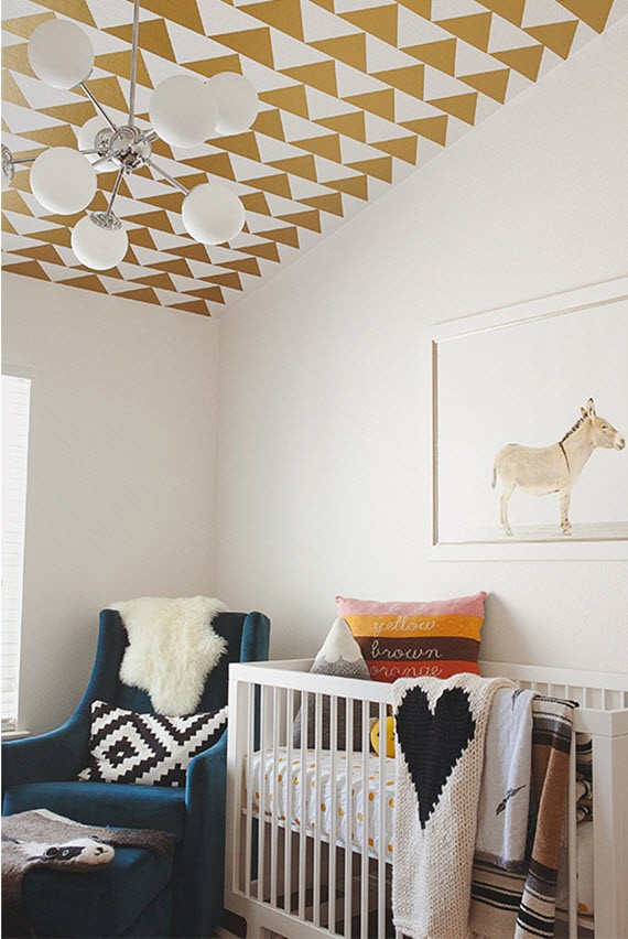 boho nursery room design