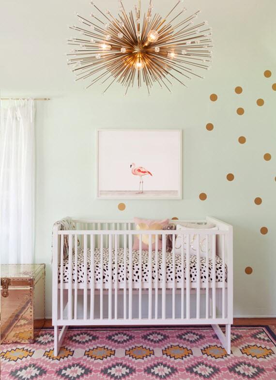 flamingo nursery room for baby girl