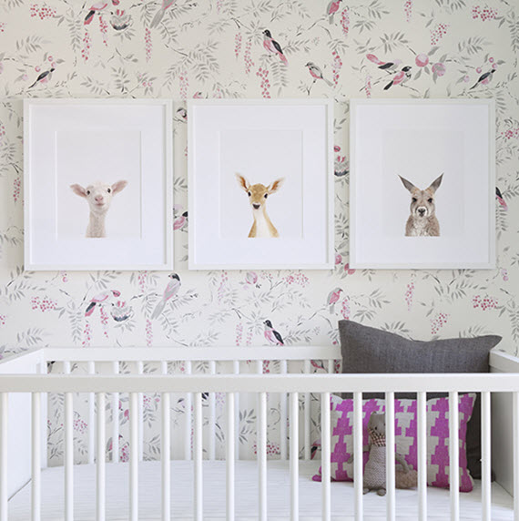 S Nursery Bird Wallpaper The Animal Print