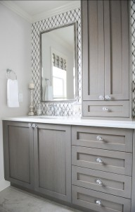 Contemporary Bathroom // Gray Vanity // Enviable Designs